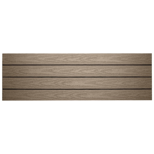 FiberDeck Tile WPC 90x30x2.2cm | Light Grey
